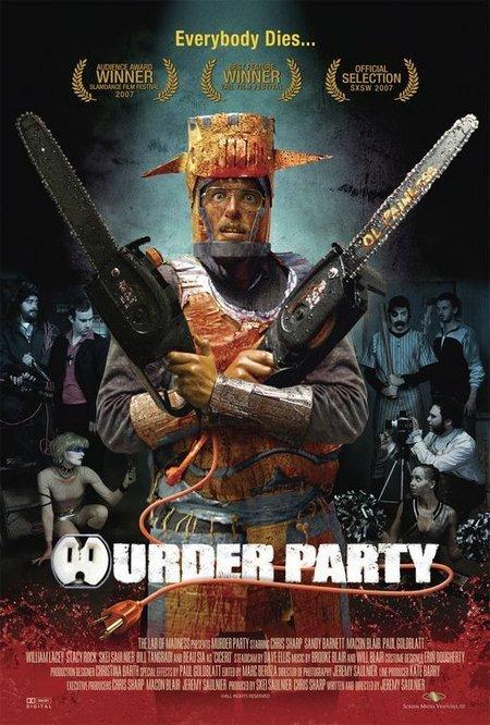 Macon Blair, Chris Sharp, Paul Goldblatt, Bill Tangradi, Stacy Rock, Skei Saulnier, William Lacey, and Sandy Barnett in Murder Party (2007)