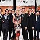 Tom Hanks, Emma Thompson, Jason Schwartzman, Colin Farrell, John Lee Hancock, Bradley Whitford, and B.J. Novak at an event for Saving Mr. Banks (2013)