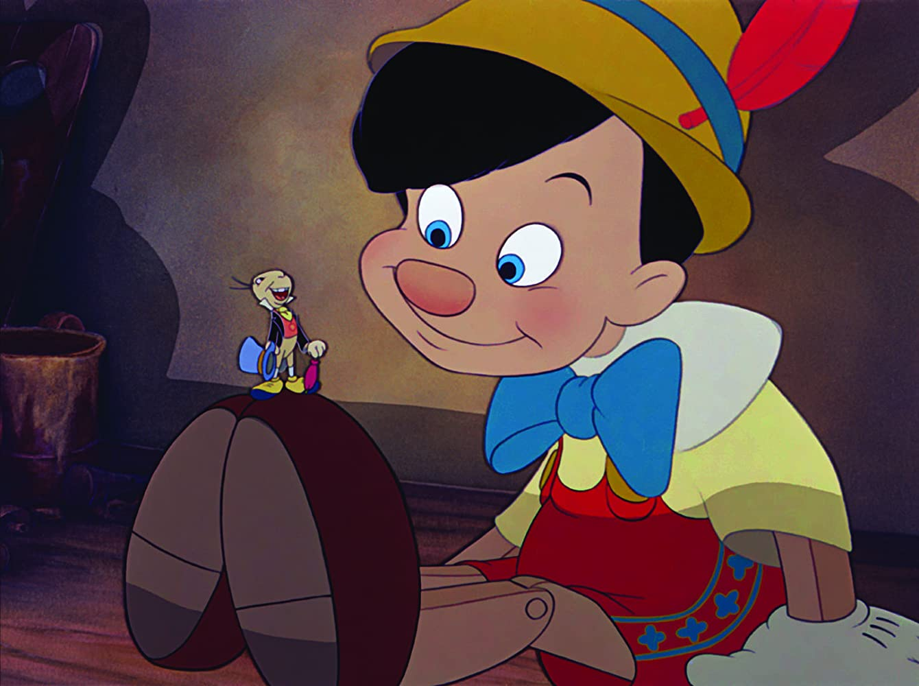 Cliff Edwards and Dickie Jones in Pinocchio (1940)