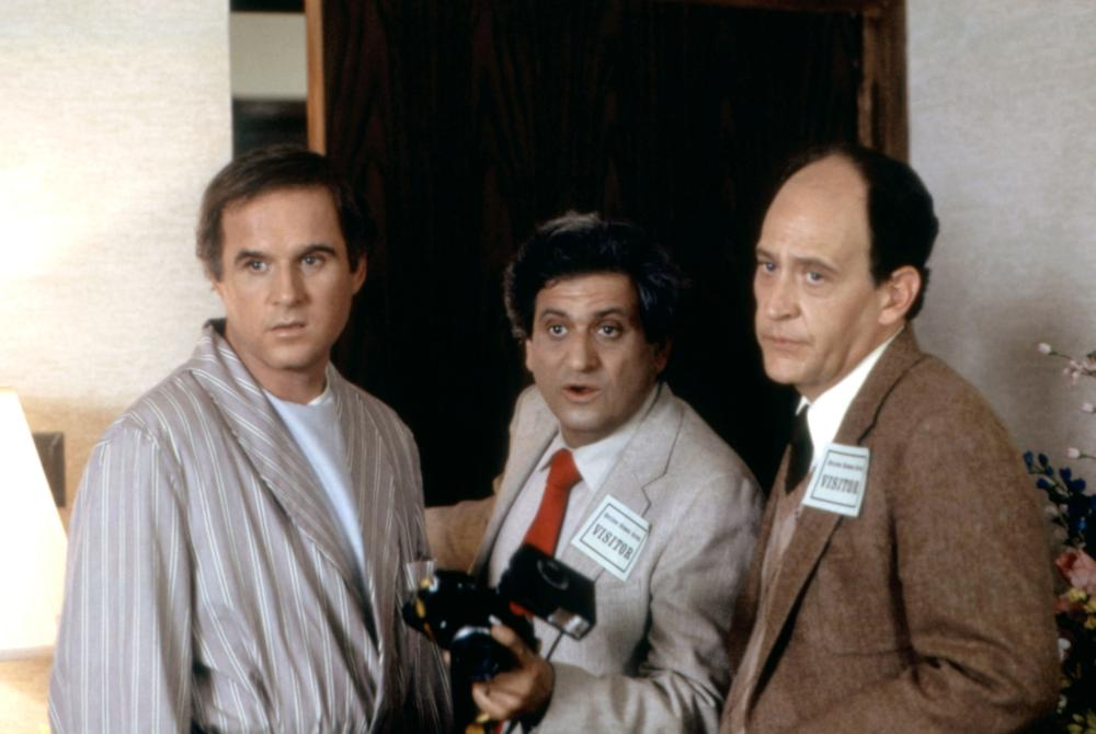 Charles Grodin, Earl Boen, and Michael Lerner in Movers & Shakers (1985)