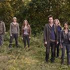 Daniella Alonso, Billy Burke, Elizabeth Mitchell, Zak Orth, Tracy Spiridakos, and Graham Rogers in Revolution (2012)