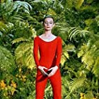 """33-2274 Audrey Hepburn doing exercises on the MGM set of """"Green Mansions"""""""