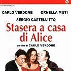 Ornella Muti, Sergio Castellitto, and Carlo Verdone in Stasera a casa di Alice (1990)