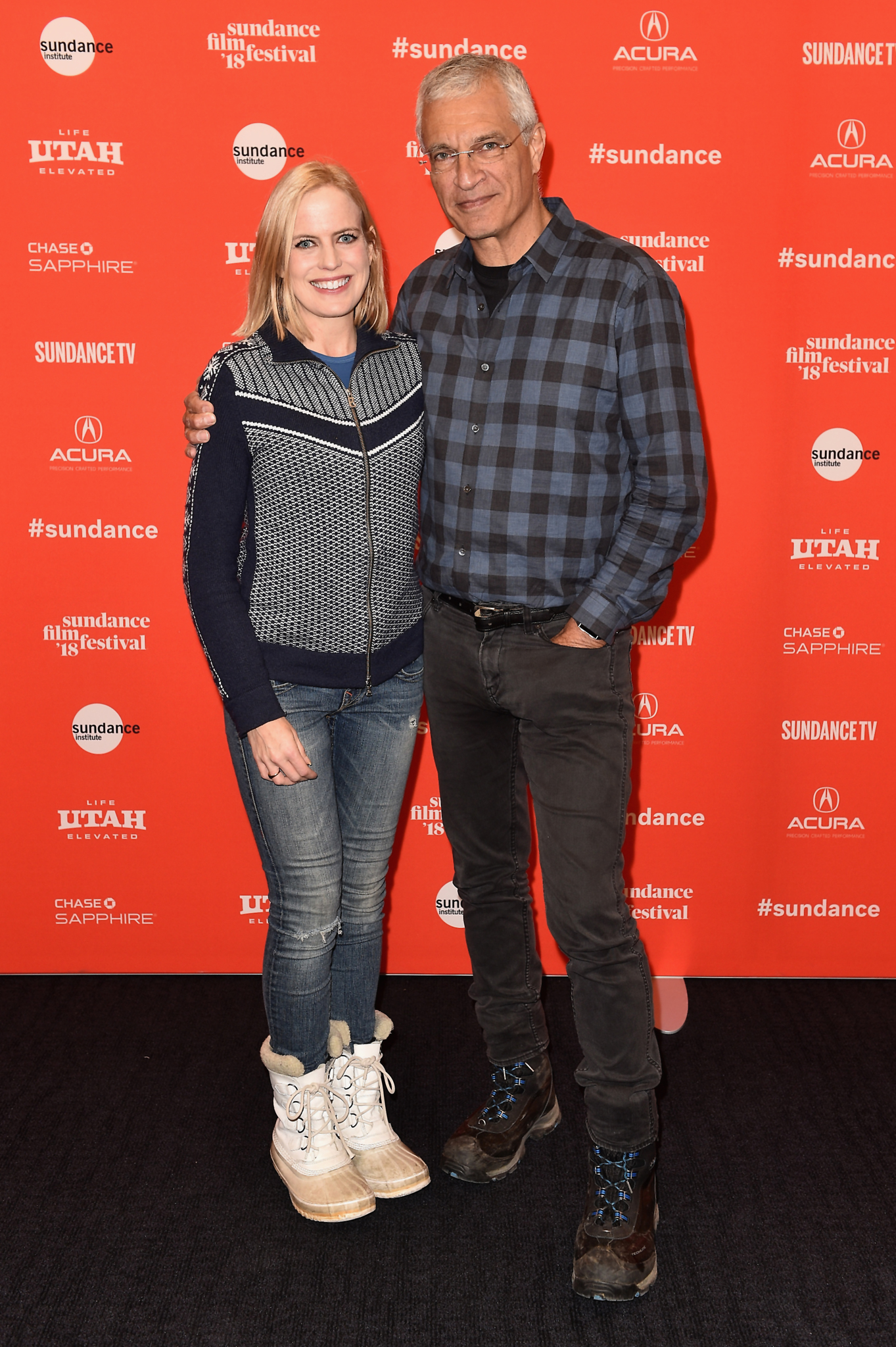 Louie Psihoyos and Lucy Sheils at an event for The Game Changers (2018)