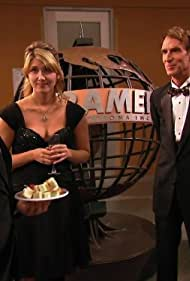 David Hewlett, Bill Nye, Jewel Staite, and Neil deGrasse Tyson in Stargate: Atlantis (2004)