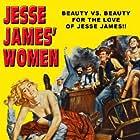 Lita Baron and Peggie Castle in Jesse James' Women (1954)