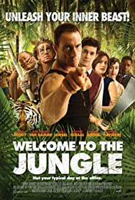 Jean-Claude Van Damme, Adam Brody, Dennis Haysbert, Aaron Takahashi, Rob Huebel, Kristen Schaal, and Megan Boone in Welcome to the Jungle (2013)