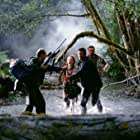 Jeff Goldblum, Julianne Moore, Vince Vaughn, and Richard Schiff in The Lost World: Jurassic Park (1997)