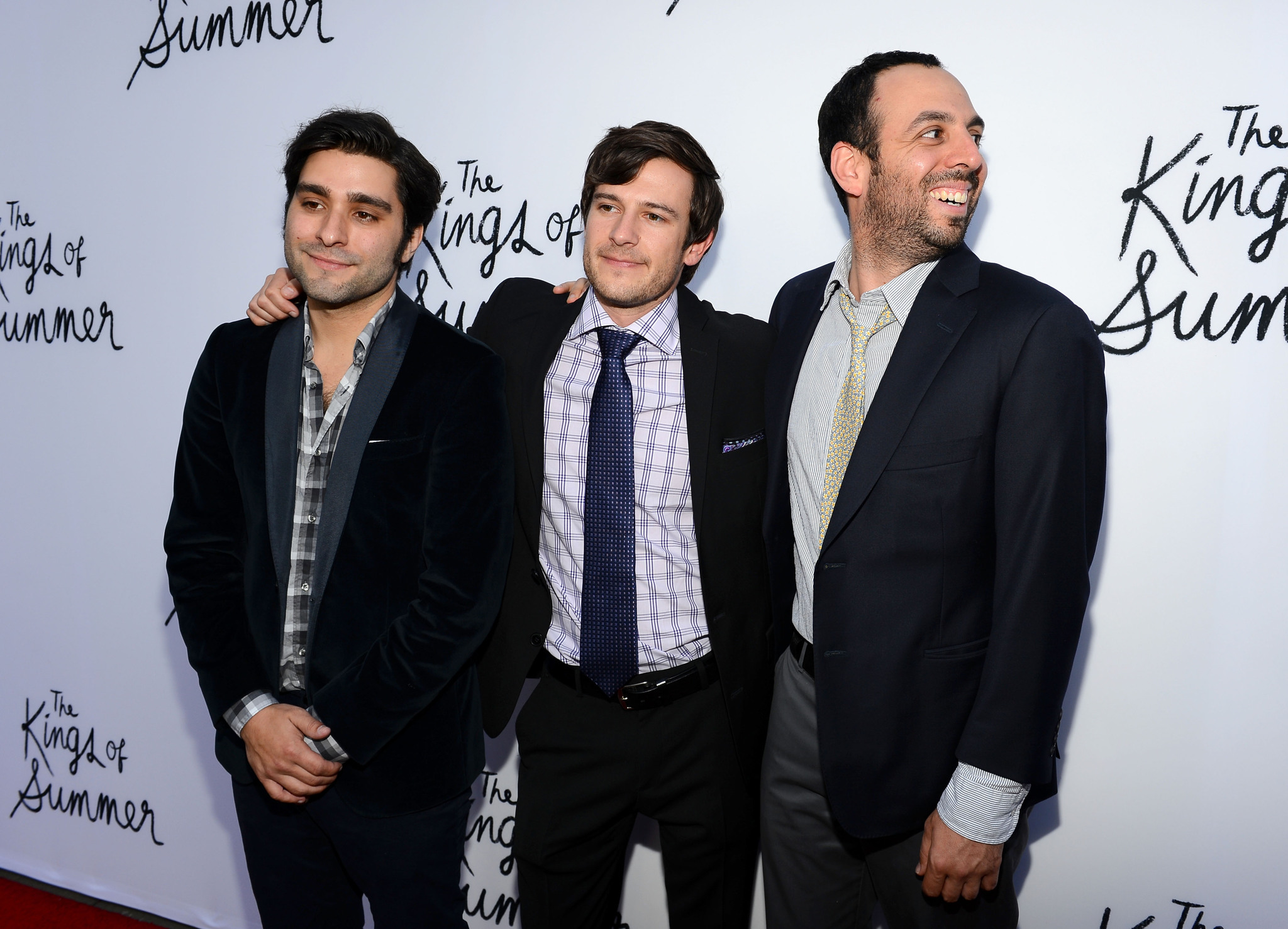 Ross Riege, Jordan Vogt-Roberts, and Chris Galletta at an event for The Kings of Summer (2013)