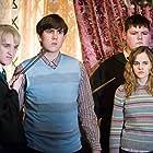 Tom Felton, Matthew Lewis, Emma Watson, and Jamie Waylett in Harry Potter and the Order of the Phoenix (2007)