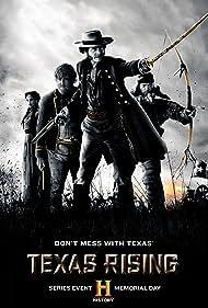Bill Paxton, Brendan Fraser, Crispin Glover, Ray Liotta, Christopher McDonald, Robert Knepper, Max Thieriot, Rhys Coiro, and Cynthia Addai-Robinson in Texas Rising (2015)