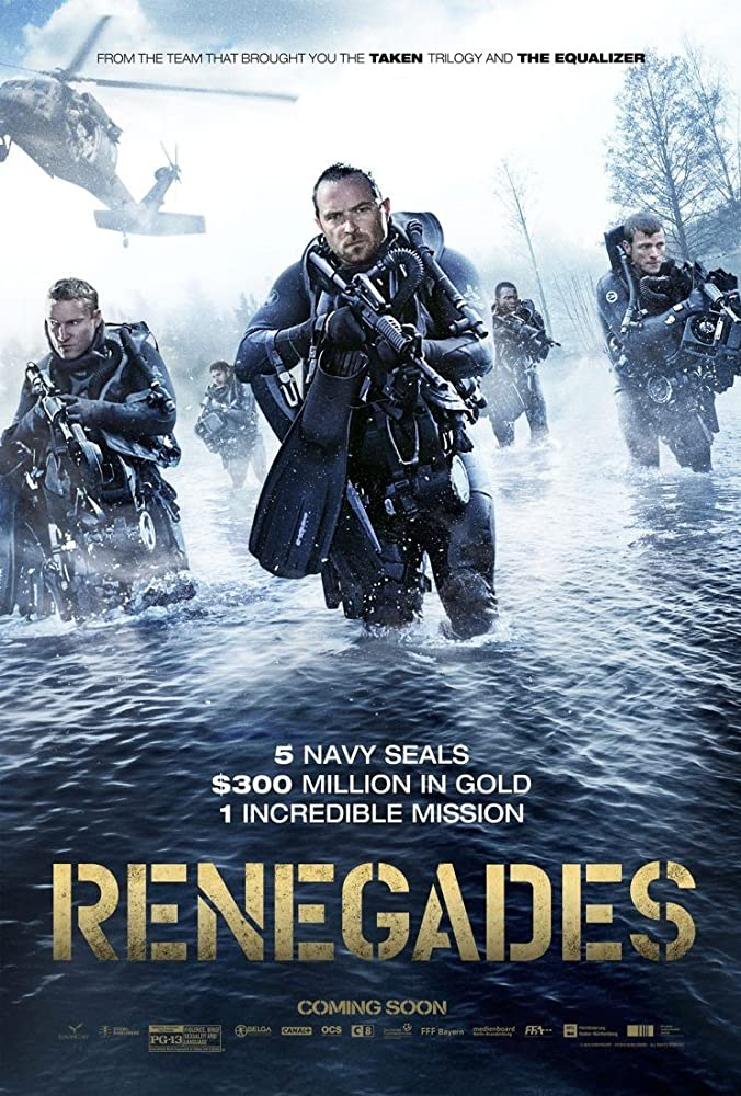 Dimitri Leonidas, Sullivan Stapleton, Joshua Henry, Diarmaid Murtagh, and Charlie Bewley in Renegades (2017)