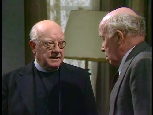 Arthur Lowe and Patrick McAlinney in Bless Me Father (1978)