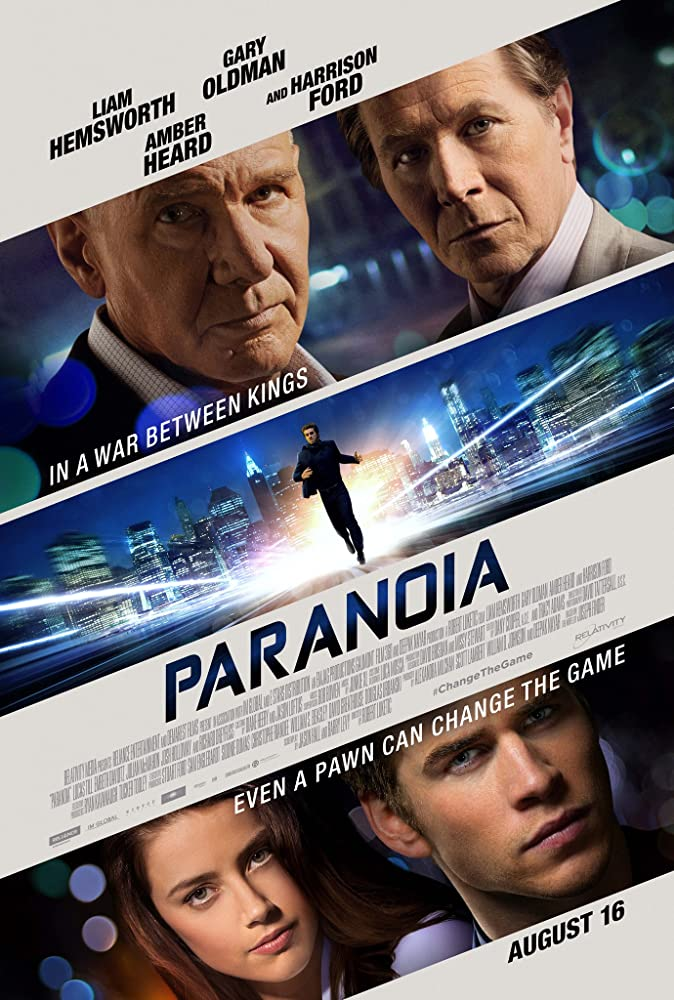 Harrison Ford, Gary Oldman, Amber Heard, and Liam Hemsworth in Paranoia (2013)