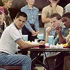 Lucas Black, Jay Hernandez, Garrett Hedlund, and Lee Jackson in Friday Night Lights (2004)
