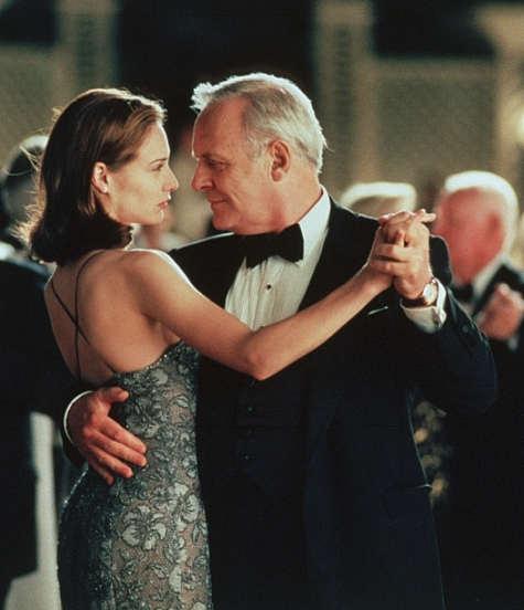 Anthony Hopkins and Claire Forlani in Meet Joe Black (1998)