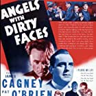 Humphrey Bogart, James Cagney, Pat O'Brien, Gabriel Dell, Leo Gorcey, Huntz Hall, Billy Halop, Bobby Jordan, Bernard Punsly, and The Dead End Kids in Angels with Dirty Faces (1938)