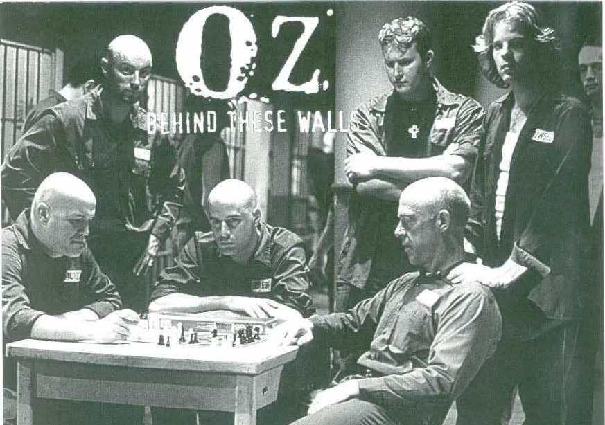 On the set of the HBO series Oz