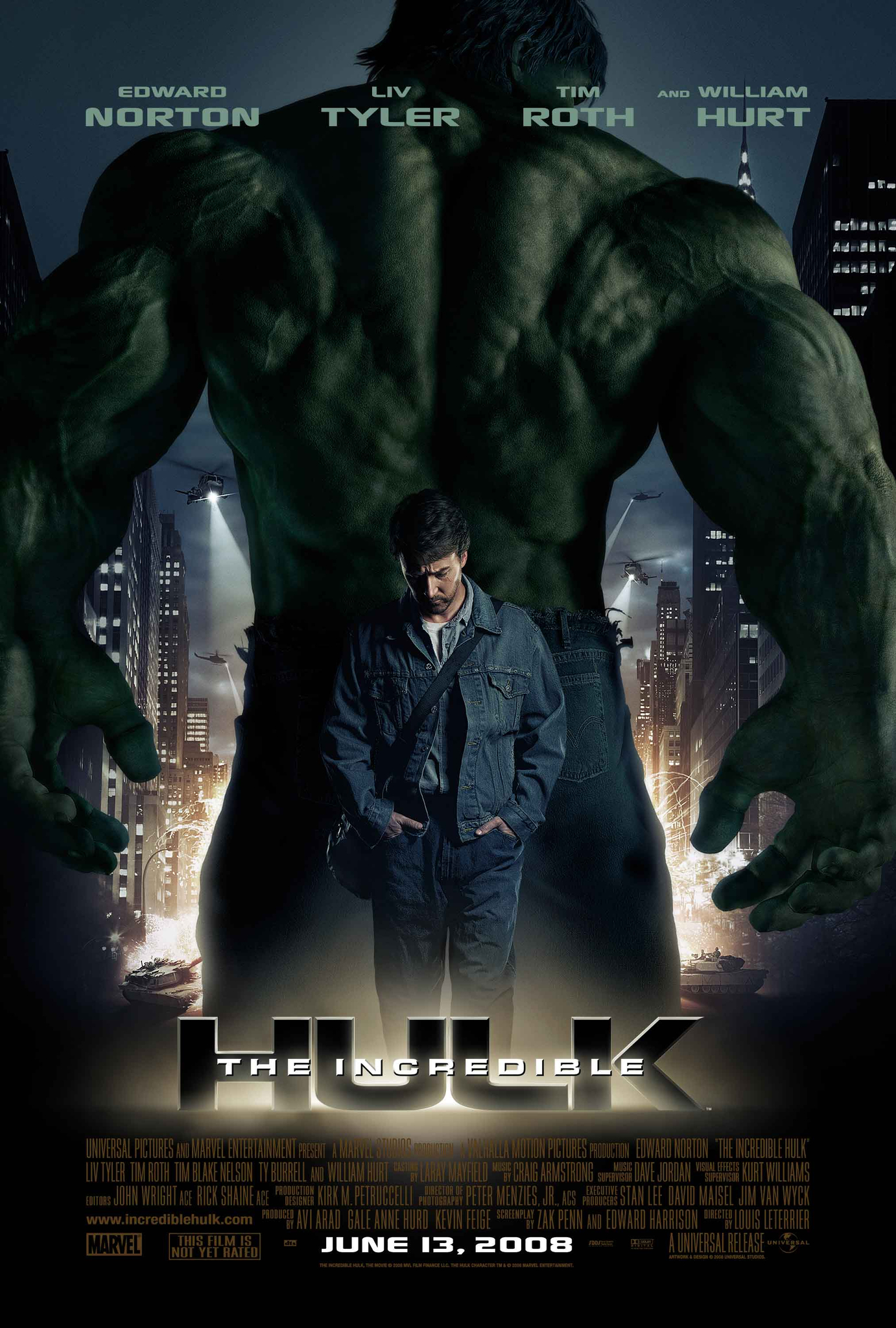 The Incredible Hulk (2008) BluRay 480p, 720p & 1080p