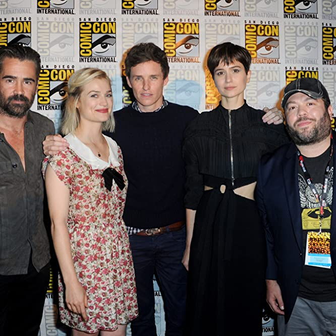 Colin Farrell, Dan Fogler, Alison Sudol, Eddie Redmayne, and Katherine Waterston at an event for Fantastic Beasts and Where to Find Them (2016)