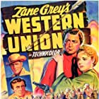 Randolph Scott, Robert Young, Virginia Gilmore, and Dean Jagger in Western Union (1941)
