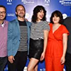 David Courier, Cecilia Frugiuele, Olivier Kaempfer, and Desiree Akhavan at an event for The Miseducation of Cameron Post (2018)