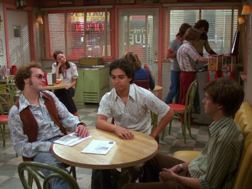Danny Masterson, Wilmer Valderrama, and Topher Grace in That '70s Show (1998)