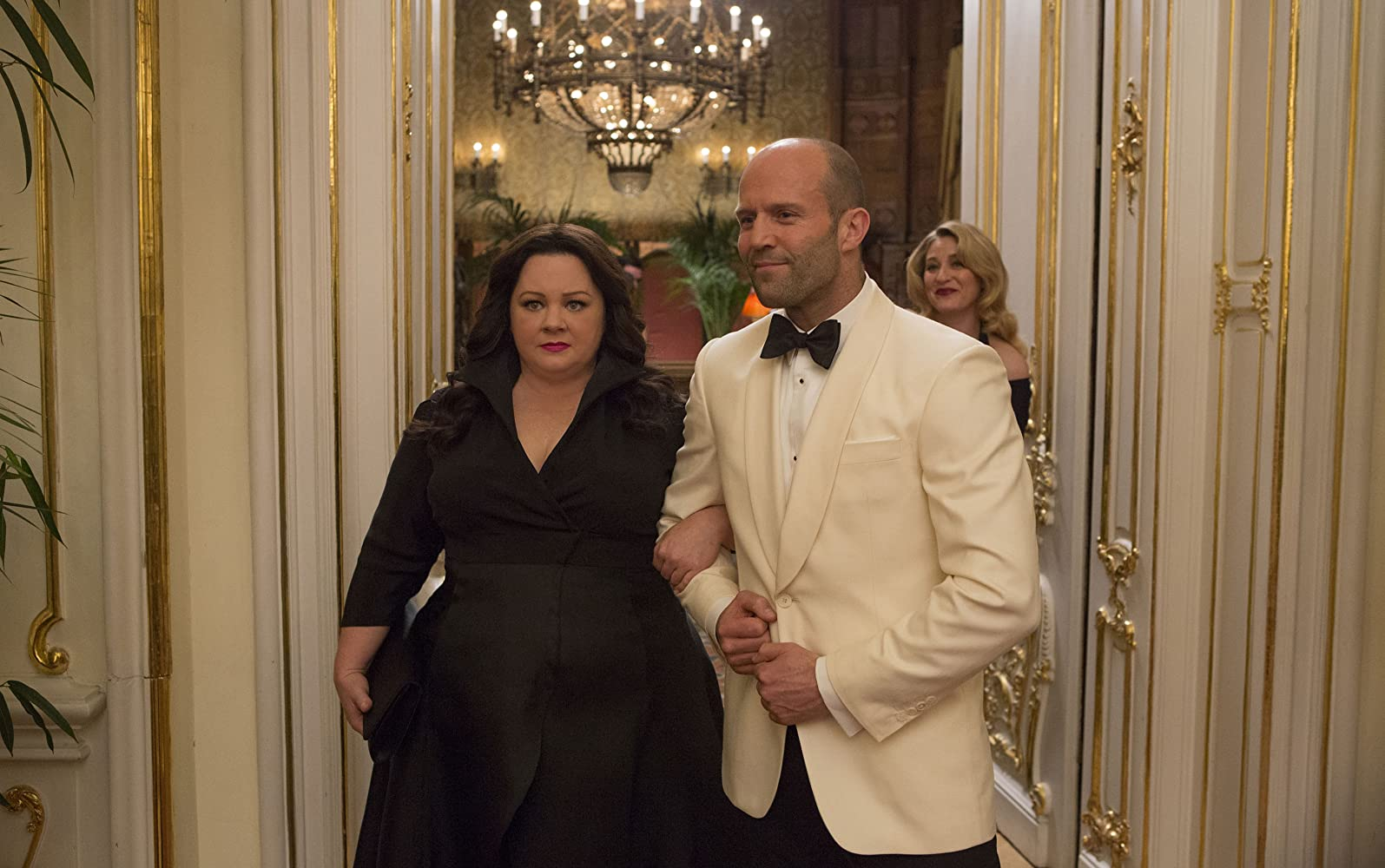 Jason Statham and Melissa McCarthy in Spy (2015)