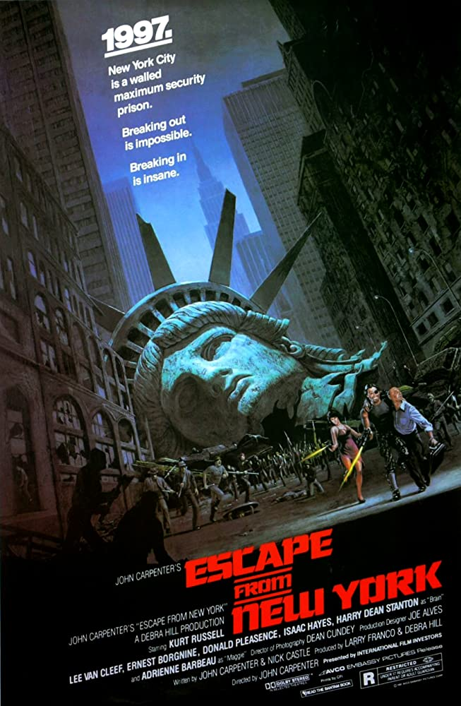 Adrienne Barbeau, Donald Pleasence, and Kurt Russell in Escape from New York (1981)