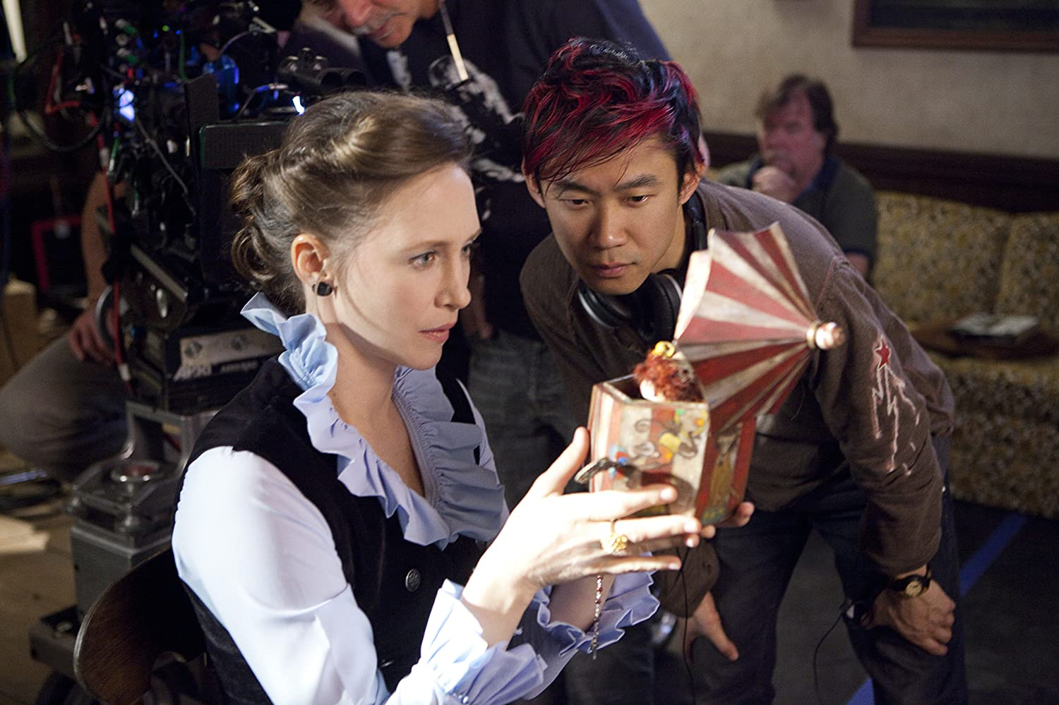 Vera Farmiga and James Wan in The Conjuring (2013)