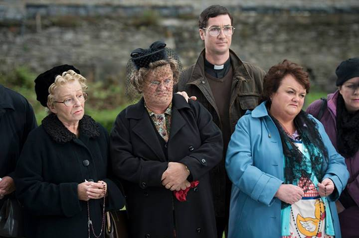 Brendan O'Carroll, June Rodgers, Conor Moloney, and Eilish O'Carroll in Mrs. Brown's Boys D'Movie (2014)