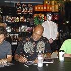 (L to R) Seth Landau, Tony Todd and Lloyd Kaufman at BRYAN LOVES YOU DVD signing, 9/23/08