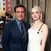 Steve Carell and Emma Stone at an event for Battle of the Sexes (2017)