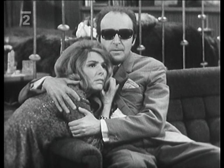 Arnostka Mohelská and Milan Vágner in Ocitý svedek (1970)