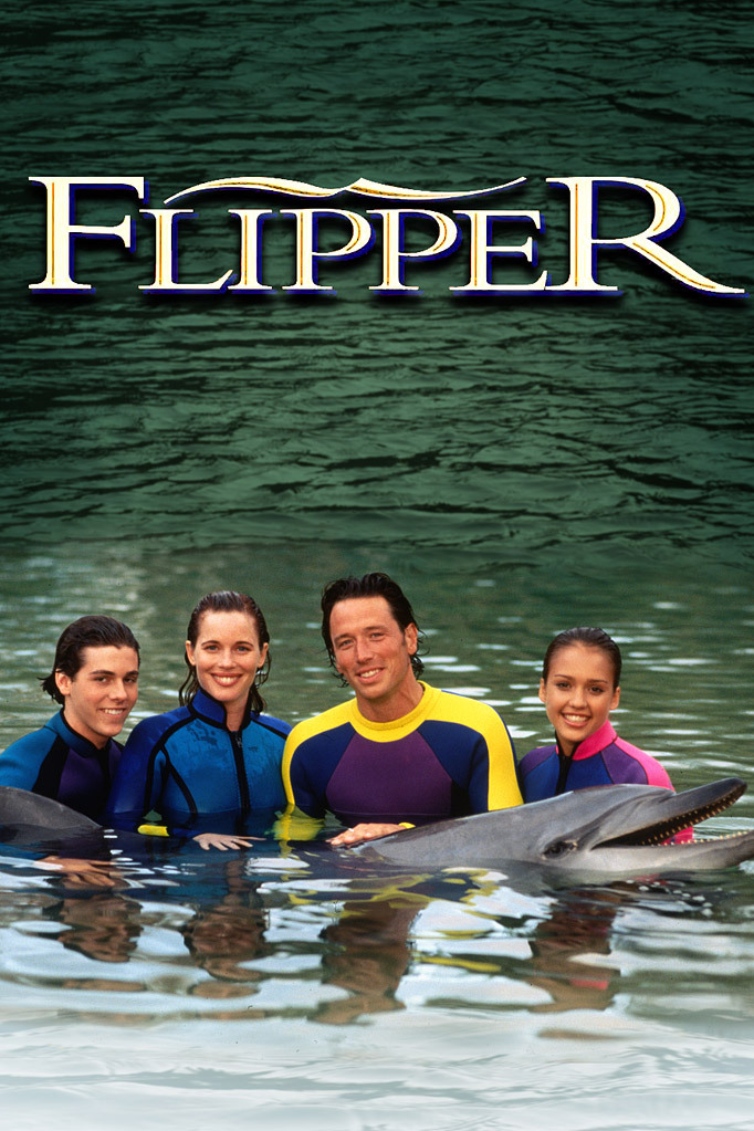 Jessica Alba, Colleen Flynn, Payton Haas, and Brian Wimmer in Flipper (1995)
