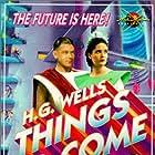 Edward Chapman, Raymond Massey, and Margaretta Scott in Things to Come (1936)
