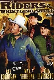 Ray Corrigan, Robert Livingston, and Max Terhune in Riders of the Whistling Skull (1937)