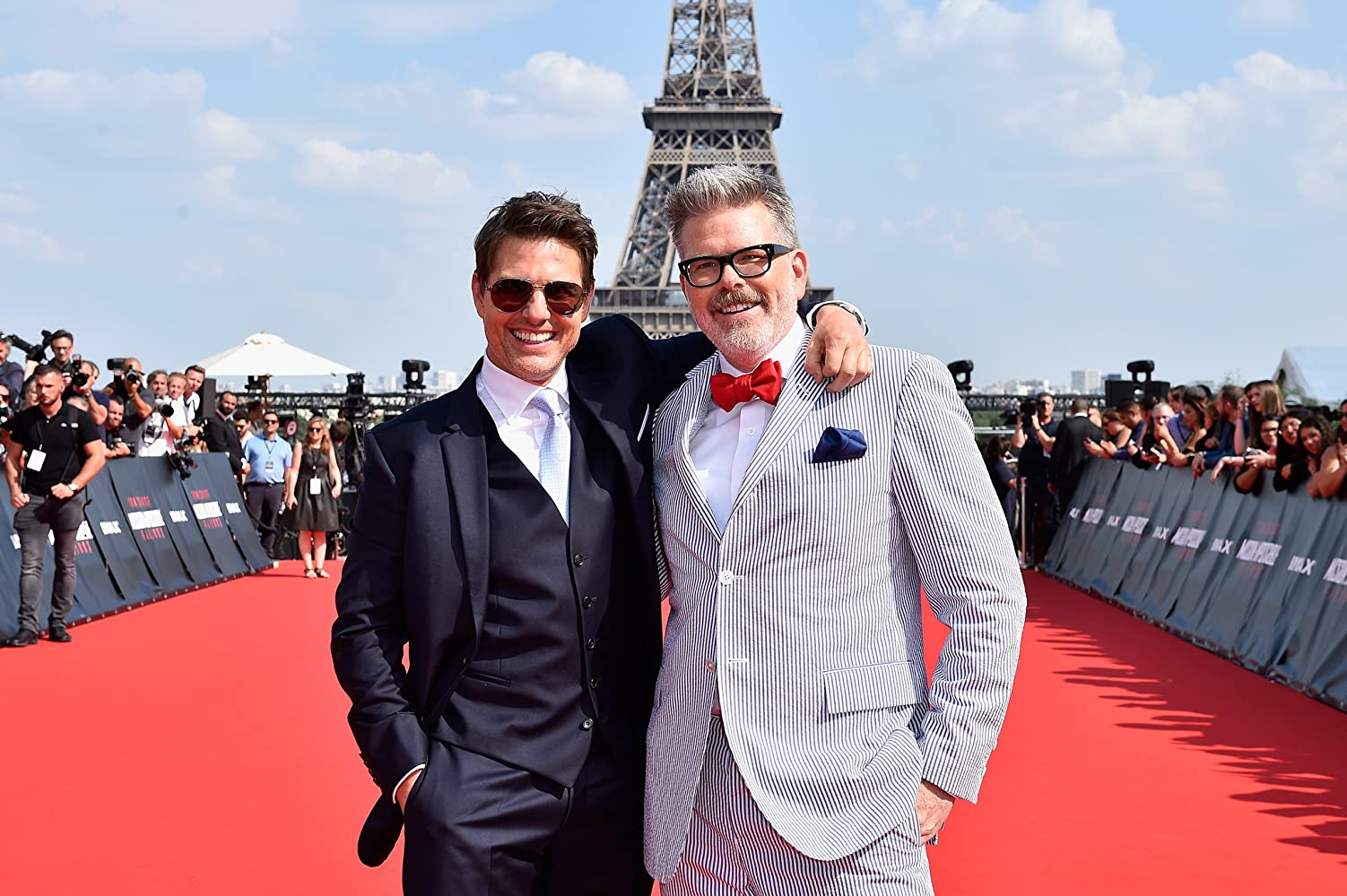 Tom Cruise and Christopher McQuarrie at an event for Mission: Impossible - Fallout (2018)