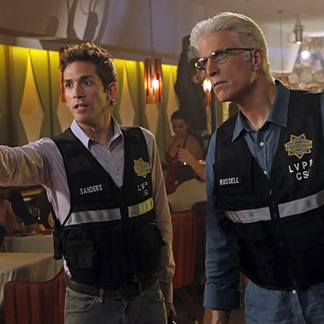 Ted Danson and Eric Szmanda in CSI: Crime Scene Investigation (2000)