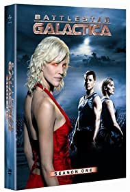 Jamie Bamber, Katee Sackhoff, and Tricia Helfer in Battlestar Galactica (2004)