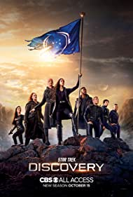 Michelle Yeoh, Wilson Cruz, Doug Jones, Anthony Rapp, Blu del Barrio, Sonequa Martin-Green, David Ajala, and Mary Wiseman in Star Trek: Discovery (2017)
