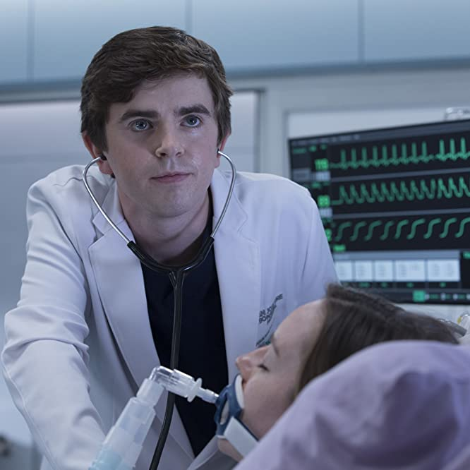 Freddie Highmore and Kacey Rohl in The Good Doctor (2017)