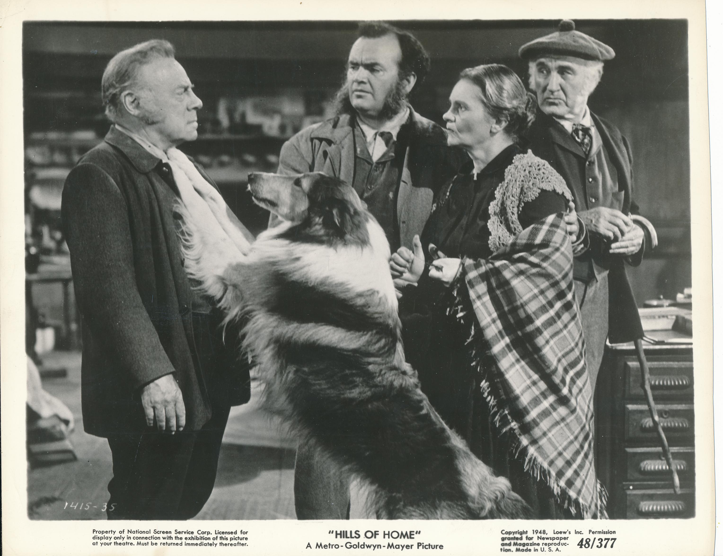 Edmund Gwenn, Rhys Williams, and Pal in Hills of Home (1948)