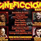 Paul Naschy, Darío Lavia, and Chucho Fernández in Cineficción Radio (2019)
