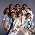 Neil Patrick Harris, Mitchell Anderson, Max Casella, Kathryn Layng, Belinda Montgomery, Lawrence Pressman, and James Sikking in Doogie Howser, M.D. (1989)