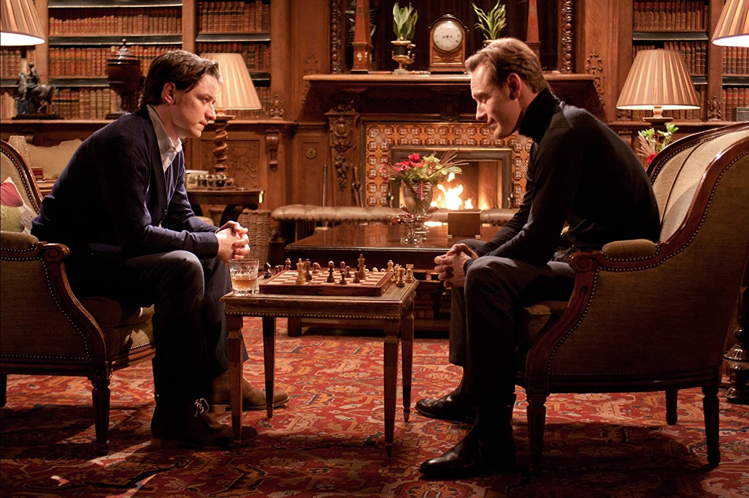 James McAvoy and Michael Fassbender in X: First Class (2011)