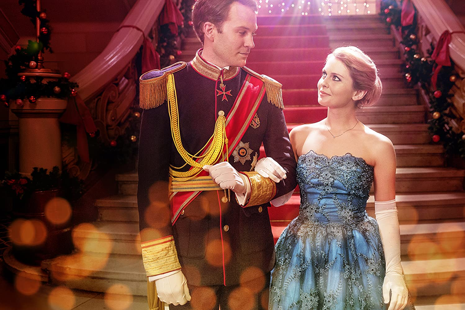 Rose McIver and Ben Lamb in A Christmas Prince (2017)