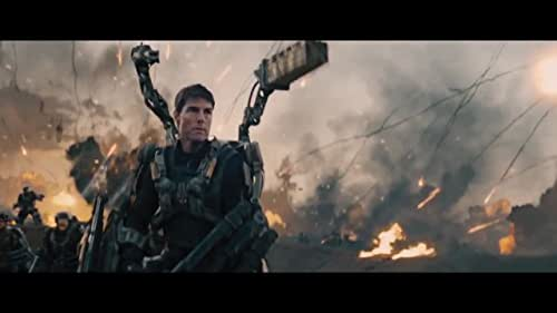 A soldier fighting in a war with aliens finds himself caught in a time loop of his last day in the battle, though he becomes better skilled along the way.