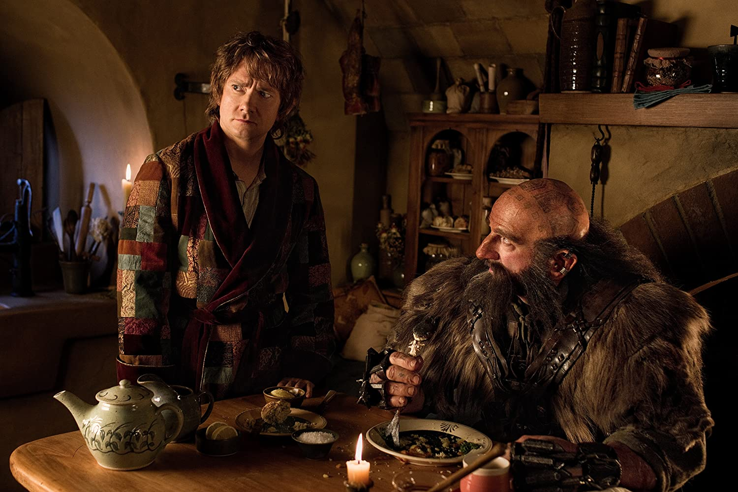 Martin Freeman and Graham McTavish in The Hobbit: An Unexpected Journey (2012)
