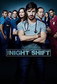 Robert Bailey Jr., Brendan Fehr, Ken Leung, Scott Wolf, Jill Flint, Eoin Macken, James Roch, and Tanaya Beatty in The Night Shift (2014)